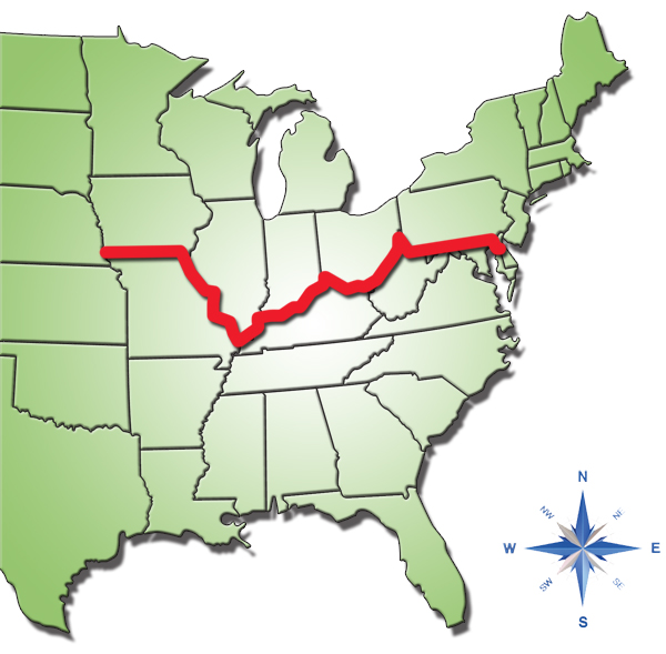 Mason Dixon Line Us Map - States below the mason dixon line